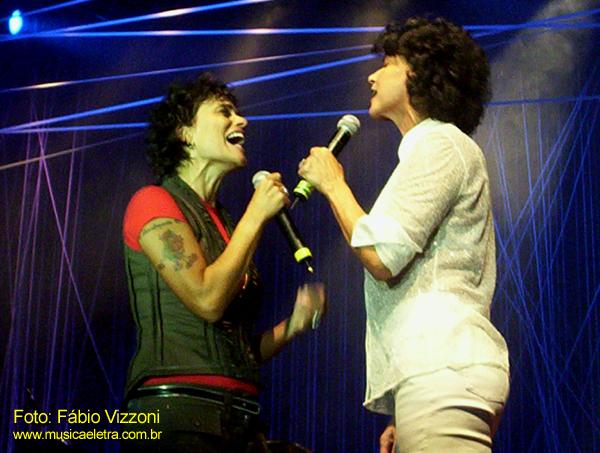 Zélia Duncan e Simone (2006) - Foto: Fábio Vizzoni / Blog Música e Letra
