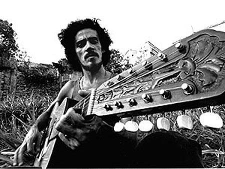 Zé Ramalho em 1978, em foto de divulgação de seu primeiro LP
